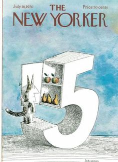 The New Yorker Cover - July 18, 1970 - by Saul Steinberg