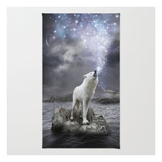 Stars Lie Hidden (wolf Galaxy) Rug ($28) ❤ liked on Polyvore featuring home, rugs, animals, backgrounds, non skid rugs, woven rugs, zig zag rug, woven area rugs and polyester rugs