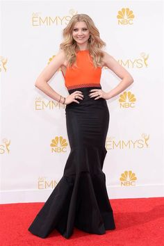 Natalie Dormer (Margaery) got out of a corset and into a color-blocked gown.