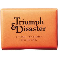 Triumph & Disaster A+R almond milk soap 130g ($11) ❤ liked on Polyvore featuring men's fashion, men's grooming, beauty and filler