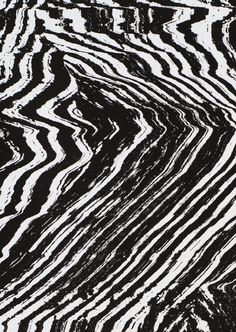 Black & white textural pattern, abstract art print // Damien Tran