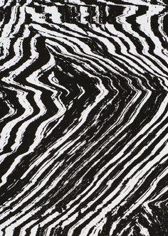 Black & white textural pattern, abstract art print // Damien Tran