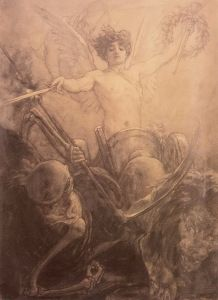 Gyzis Nikolaos Glory Triumphs over death A4 Poster, Poster Prints, Prince, Social Art, Greek Art, Tumblr, Vintage Artwork, Drawing People, Figurative Art
