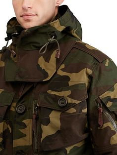 Camo Hooded Utility Jacket - Polo Ralph Lauren Lightweight & Quilted - RalphLauren.com