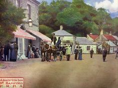 A horse and carriage at the Ashopton Inn in the early Silt has already covered the remains of the village's buildings Old Pictures, Old Photos, Peak District England, Derwent Valley, Duke Of Devonshire, Lost Village, Make Way, First Photograph, Derbyshire
