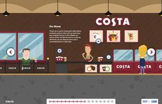 Costa Coffee take us on an interactive tour of the journey from bean to cup. There is so much love that went into this one pager I don't know where to begin. The illustrations are beautiful and each chapter is packed with color, subtle animations and loads of interesting facts. Lovely touch with the chapter preloaders around the directional arrows and the wooden frame around the site on bigger monitors. Stellar job Graphite Digital!