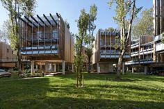 Elevated Housing   Collective Eco-Housing La Canopée / Patrick Arotcharen Architecte