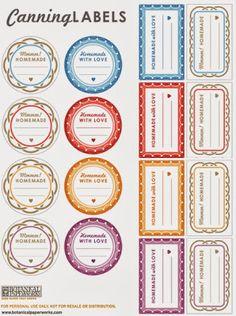Etichette stampabili gratis - Free printable Labels ~ Arte Idee e Creatività