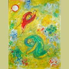 Marc Chagall was born in Vitebsk, Byelorussia, in 1887 to a poor Hasidic family. The eldest of nine children, Marc Chagall studied first in a heder before moving to a secular Russian school, where he began to display his artistic talent. Marc Chagall, Artist Chagall, Chagall Paintings, Gouache, Arches Paper, Fauvism, French Artists, Les Oeuvres, Painting & Drawing