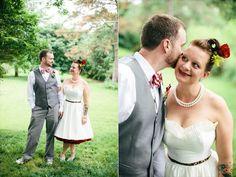 Bride + Groom | #diy #wedding The Leekers - handmade nebraska wedding