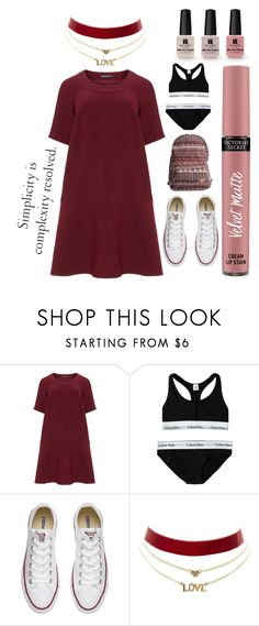 """""""Plussize #02"""" by ayunizahirah ❤ liked on Polyvore featuring Manon Baptiste, Calvin Klein, Converse, Charlotte Russe, Billabong and Victoria's Secret"""