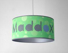 Monogrammed Custom Lamp Shade Leather & by LightingLampDesign