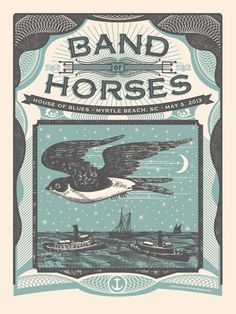 Band of Horses - Myrtle Beach by Status Serigraph--TYPOGRAPHY