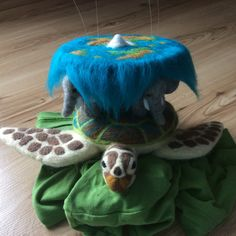 Terry Pratchett's Discworld - felted turtle and elephants