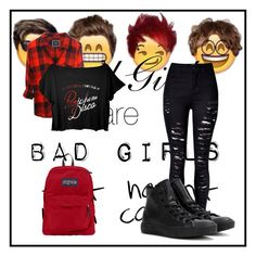 """""""after good girls music video"""" by music-lover-885095 on Polyvore featuring WithChic, Converse and JanSport"""