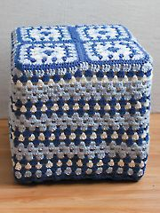 Granny Square Footstool Cover