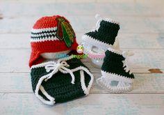 Crochet Chicago Blackhawks set Chicago by LittleAngelssecret