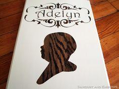 DIY Children's Profile Plaques using Woodgrain!