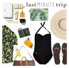"""Last Minute Trip"" by sanddollardubai ❤ liked on Polyvore featuring Casetify, Havaianas, Sunseeker, Royce Leather, Louis Vuitton, Jeweliq and Rodin"