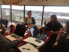 Team working on new project strategy for sports bar company