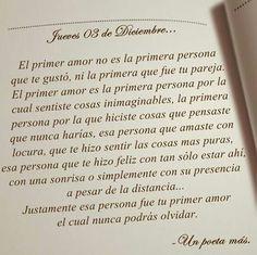El primer amor...