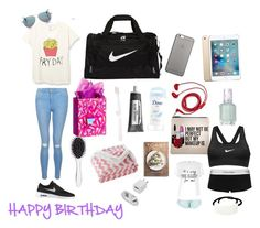 """What to bring to a birthday sleepover party"" by xxrgsxx ❤ liked on Polyvore featuring interior, interiors, interior design, home, home decor, interior decorating, New Look, NIKE, Cutler and Gross and ANISE"