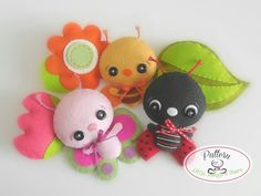 Garden Bugs set of Three PDF sewing by LittleThingsToShare on Etsy