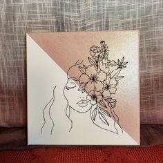 Cute Canvas Paintings, Easy Canvas Art, Canvas Painting Tutorials, Small Canvas Art, Mini Canvas Art, Acrylic Canvas, Canvas Wall Art, Modern Canvas Art, Mini Toile