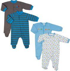 c7000d9fc Gerber Baby-boys Sleepers Zip & Snap Combo (4 Pack) (0-3 Months) Gerber  $26.95