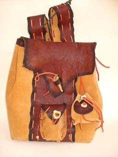 Rustic Leather Backpack by MadeOfLeather on Etsy, $350.00