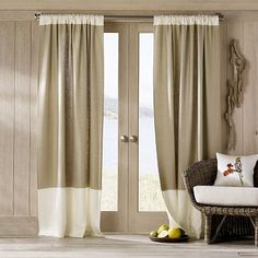 DIY: Curtains    i really dig the matching color on top and bottom.. i wonder how itd look if the top were tabs!!