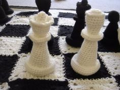 Crochet Chess Set. I wonder how long this takes to make.