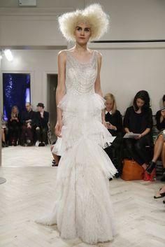 Yo quiero comer perdices contigo..  Original vestido de novia de Badgley Mischka (FW 2014) #weddingdresses #NYBW
