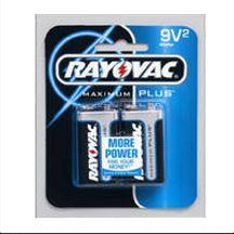 SPECTRUM BRANDS INC Rayovac 9V Alkaline Battery, 2PK