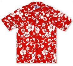 5df855868 RJC Kalaheo Hawaiian Shirts From Aloha Shirt Shop | RJC Hibiscus Red | RC-05