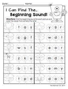 beginning middle end sounds kindergarten worksheets - Google ...