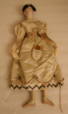 Doll ca. 1800-1810. Litchfield Historical Society, Connecticut. (How sweet is this?!)
