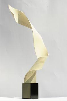 Evolution 3, Woodn & Iron -  h 75 cm - by Mirko Demattè