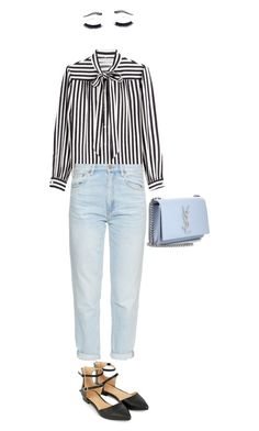 """""""Work #1"""" by ceci7486 ❤ liked on Polyvore featuring Philosophy di Lorenzo Serafini, M.i.h Jeans, Accessorize, Yves Saint Laurent and Crown Moiety"""