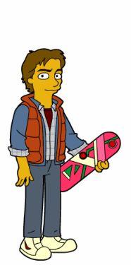 65-volver al futuro-marty mcfly-66 personajes y celebridades versión Simpsons