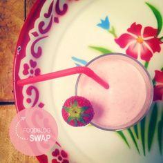 Foodblogswap: aardbeienmilkshake (zuivelvrij, suikervrij)
