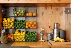 Fruit storagelove this idea..must find a similar wire holder