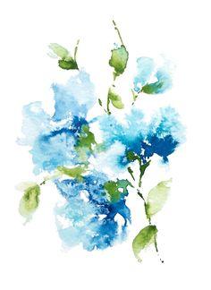 Original floral watercolor by Asara Design