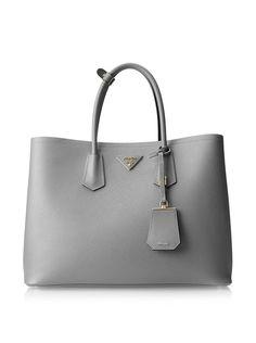 Prada Women's Saffiano Lux Double Zip Tote, Marmo, http://www.myhabit.com/redirect/ref=qd_sw_dp_pi_li?url=http%3A%2F%2Fwww.myhabit.com%2Fdp%2FB00TXHI2X8%3F