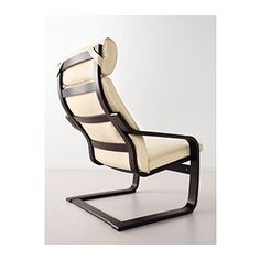 POÄNG Chair - Robust off-white, black-brown - IKEA