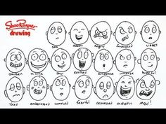 How to draw 20 different emotions Shoo Rayner @jan issues Earl thought of u when I saw this: can't wait to show H: she will love the simple but expressive style :)