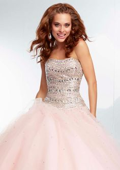 24e0479598 Prom Dress From Paparazzi By Mori Lee Style 95014 Jewel Beaded Bodice on  Tulle Prom Gown Skirt