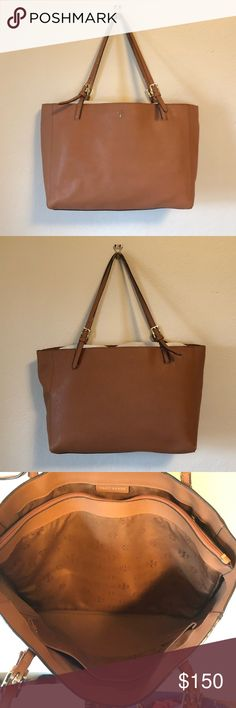 4de9448f84 Tory Burch York Buckle Tote in Camel Used but very good condition! See  photos for details - sign of wear on straps