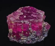 Tourmaline Locality: Stewart Mine, Tourmaline Queen Mountain, Pala, Pala District, San Diego Co., California, USA Dimensions: 6.4 x 6.0 x 4.7 cm Thingofinterest, this links to nice thread of an amazing collection.