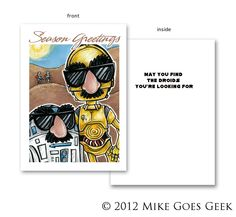 R2-D2 and C-3PO Holiday Card
